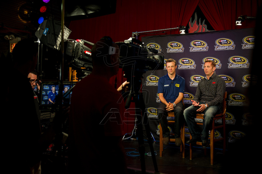 Joliet, IL - SEP 12, 2012:  The 12 Chase Contenders talk with fans at the House of Blues, before the first race for the Chase at Chicagoland Speedway in Joliet, IL.
