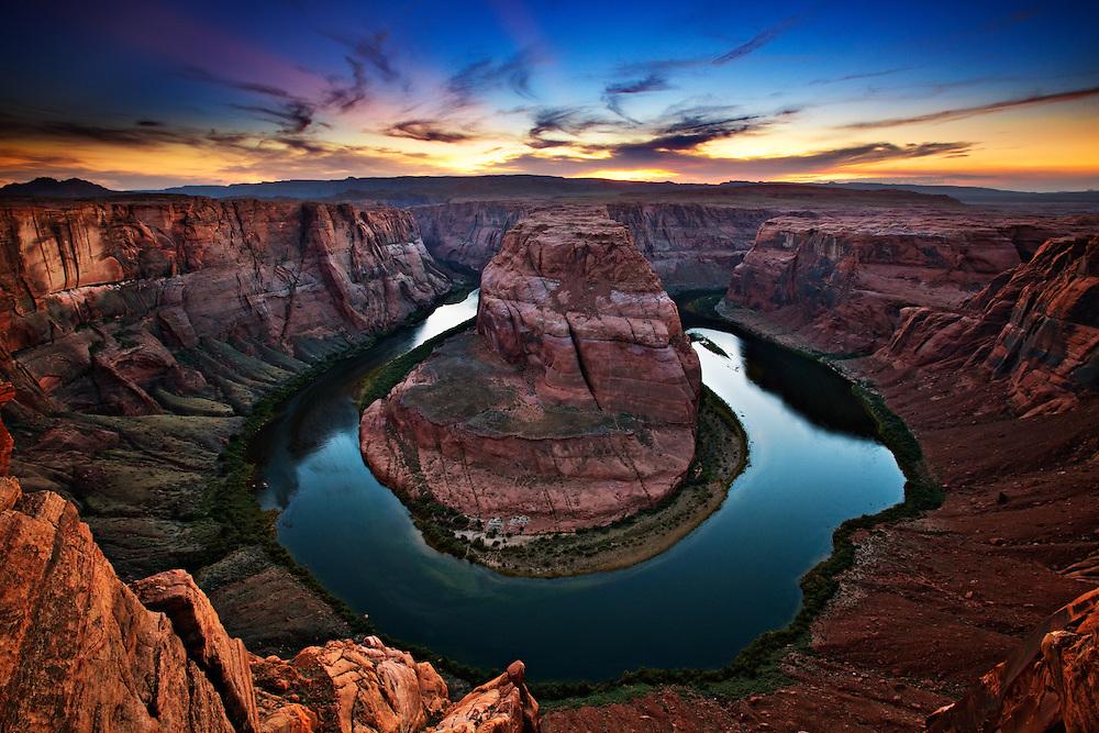 Horseshoe Bend on the Colorado River, near Page, Arizona.