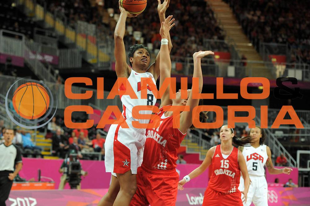 DESCRIZIONE : London Londra Olympic Games Olimpiadi 2012 Women Preliminary Round USA Croatia Usa Croazia<br /> GIOCATORE : Angel McCoughtry<br /> CATEGORIA : Tiro<br /> SQUADRA : Usa<br /> EVENTO : Olympic Games Olimpiadi 2012<br /> GARA : USA Croatia Usa Croazia<br /> DATA : 28/07/2012 <br /> SPORT : Pallacanestro <br /> AUTORE : Agenzia Ciamillo-Castoria/GiulioCiamillo<br /> Galleria : London Londra Olympic Games Olimpiadi 2012 <br /> Fotonotizia : London Londra Olympic Games Olimpiadi 2012 Women Preliminary Round USA Croatia Usa Croazia<br /> Predefinita :