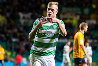 29/10/14 SCOTTISH LEAGUE CUP QUARTER-FINAL<br /> CELTIC V PARTICK THISTLE (6-0)<br /> CELTIC PARK - GLASGOW<br /> Celtic star John Guidetti celebrates completing his hat-trick.