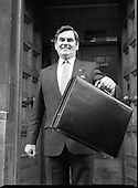 1988 - Ray McSharry TD On Budget Day.     (R71).
