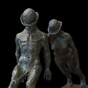 """""""Bowlers"""" by Sumner Winebaum (detail)"""