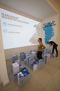 """13th Biennale of Architecture..Giardini..Danish Pavillion..""""Possible Greenland""""."""