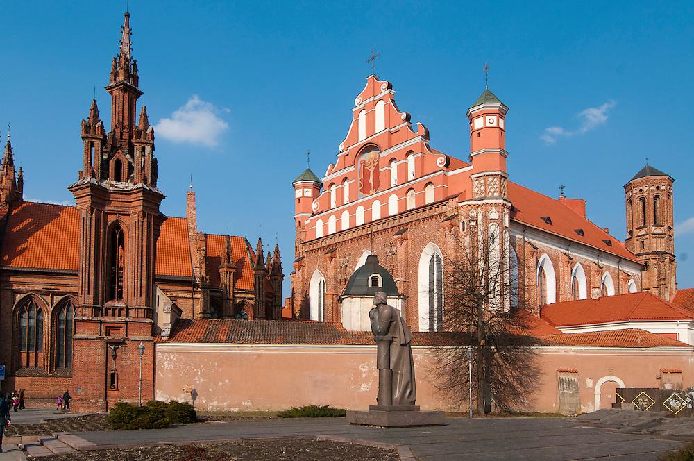 View of Vilnius/ St. Anne's & St. Bernardiu, Spring 2011