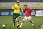 (L-R) *Finn Stokkers* of Fortuna Sittard, *Fredrik Midtsjo* of AZ Alkmaar