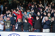 Dundee fans at the end - Partick Thistle v Dundee, Ladbrokes Premiership at Firhill<br /> <br /> <br />  - &copy; David Young - www.davidyoungphoto.co.uk - email: davidyoungphoto@gmail.com