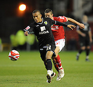 Nottingham - Saturday November 22nd, 2008: Chris Cohen of Nottingham Forest and Ryan Bertrand of Norwich City during the Coca Cola Championship match at The City Ground, Nottingham. (Pic by Alex Broadway/Focus Images)