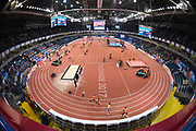 Mar 5, 2017; Belgrade, Serbia; General overall view of the 34th European Indoor Championships at Kombank Arena. (Jiro Mochizuki/Image of Sport)