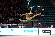 Rebecca Riccò  from the San Giorgio Desio team during the Italian Rhythmic Gymnastics Championship in Bologna, 9 February 2019.