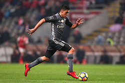 January 13, 2018 - Braga, Braga, Portugal - Benfica's Mexican forward Raul Jimenez in action during the Premier League 2017/18 match between SC Braga and SL Benfica, at Municipal de Braga Stadium in Braga on January 13, 2018. (Credit Image: © Dpi/NurPhoto via ZUMA Press)