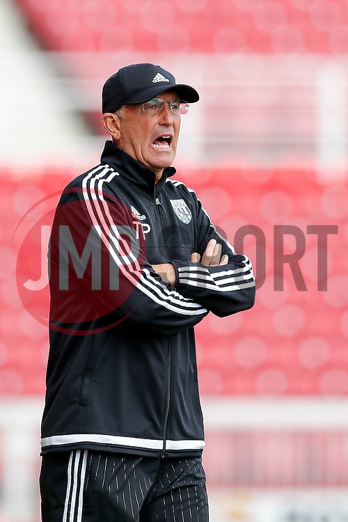 West Brom Manager Tony Pulis - Mandatory byline: Rogan Thomson/JMP - 07966 386802 - 25/07/2015 - SPORT - Football - Swindon, England - The County Ground - Swindon Town v West Bromwich Albion - 2015/16 Pre Season Friendly.