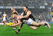 AFL Round 18 - West Coast Eagles v Richmond Tigers, Patersons Stadium, Perth. Photo by Daniel Wilkins. PICTURED-