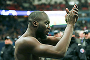 Manchester United Forward Romelu Lukaku celebrates  during the Champions League Round of 16 2nd leg match between Paris Saint-Germain and Manchester United at Parc des Princes, Paris, France on 6 March 2019.