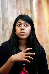 UK ENGLAND LONDON 15AUG06 - Narida Quadi reacts during an interview at the Masjid - e - Bakr Trust in Walthamstow, north London, where Police are investigating an alleged bomb plot...jre/Photo by Jiri Rezac..© Jiri Rezac 2006..Contact: +44 (0) 7050 110 417.Mobile:  +44 (0) 7801 337 683.Office:  +44 (0) 20 8968 9635..Email:   jiri@jirirezac.com.Web:    www.jirirezac.com..© All images Jiri Rezac 2006 - All rights reserved.