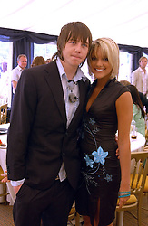 DANNY JONES? from pop group McFly and ASHLEY GODDARD at the Kuoni World Class Polo Day held at Hurtwood Park Polo Club, Surrey on 29th May 2005.<br /><br />NON EXCLUSIVE - WORLD RIGHTS