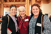 From left, Irene Wong, Betsy Buchalter Adler and Mary Gunn at the December 5th, 2017 opening of the Stories from Salinas exhibition at the CSUMB Salinas Center for Arts and Culture in Oldtown. The exhibition celebrates the mentors, youth and families of the Salinas Youth Initiative.