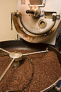 Coffee being roasted in a 1959 era roasting machine.