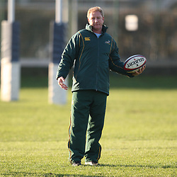 LONDON, ENGLAND - NOVEMBER 26, Dick Muir assistant coach during the South African rugby team captain's run at  on November 26, 2010 in London, England<br /> Photo by Steve Haag / Gallo Images