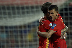 March 23, 2019 - Valencia, Valencia, Spain - Sergio Ramos of Spain celebrates after scoring his sides first goal whit Dani Ceballos during the 2020 UEFA European Championships group F qualifying match between Spain and Norway at Estadi de Mestalla on March 23, 2019 in Valencia, Spain. (Credit Image: © Jose Breton/NurPhoto via ZUMA Press)