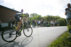 Rachel Neylan (AUS) of Orica Scott Cycling Team leads in the second lap around Halden on Stage 3 of the Ladies Tour of Norway - a 156.6 km road race, between Svinesund (SE) and Halden on August 20, 2017, in Ostfold, Norway. (Photo by Balint Hamvas/Velofocus.com)