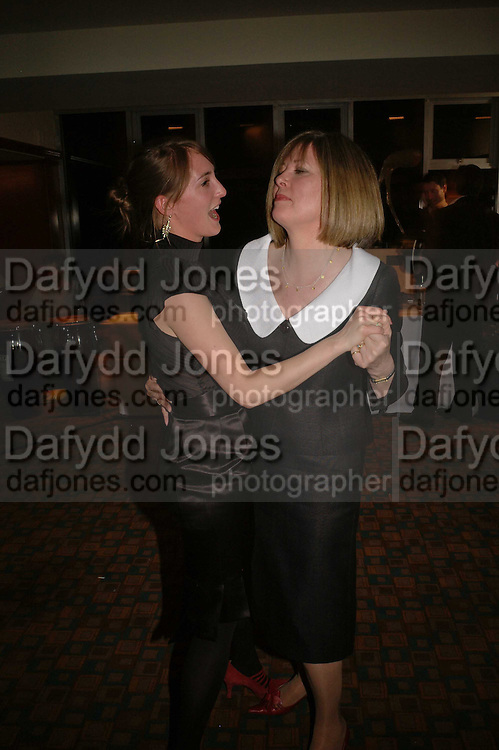 POPPY DE VILLENEUVE AND LADY CHRISSIE BLAKE, Sir Peter Blake and Poppy De Villeneuve host a party with University of the Arts London at the Arts Club, Dover Street, London. 20 APRIL 2006<br />