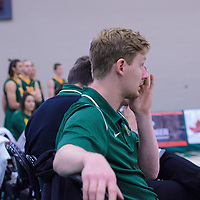Assistant Coach, Jacques Borgeaud, during the Men's Volleyball Home Game vs Trinity Western  on October 28 at the CKHS University of Regina. Credit Matt Johnson/Arthur Images
