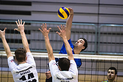 during volleyball match between Panvita Pomgrad and Šoštanj Topolšica of 1. DOL Slovenian National Championship 2019/20, on December 14, 2019 in Osnovna šola I, Murska Sobota, Slovenia. Photo by Blaž Weindorfer / Sportida