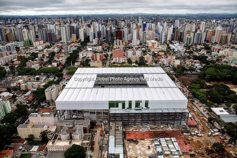 Football Fifa World Cup Brazil 2014<br /> Curitiba - Parana  - Brazil<br /> Panoramic View of Arena Da Baixada Stadium    ,  <br /> Renovation work of the stadium for the next Fifa World Cup Brazil 2014<br /> ( Images take 18/03/2014  )