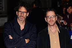 Joel Coen and Ethan Coen arriving for the premiere of new film Inside Llewyn Davis, in London,  Tuesday, 15th October 2013. Picture by Nils Jorgensen / i-Images
