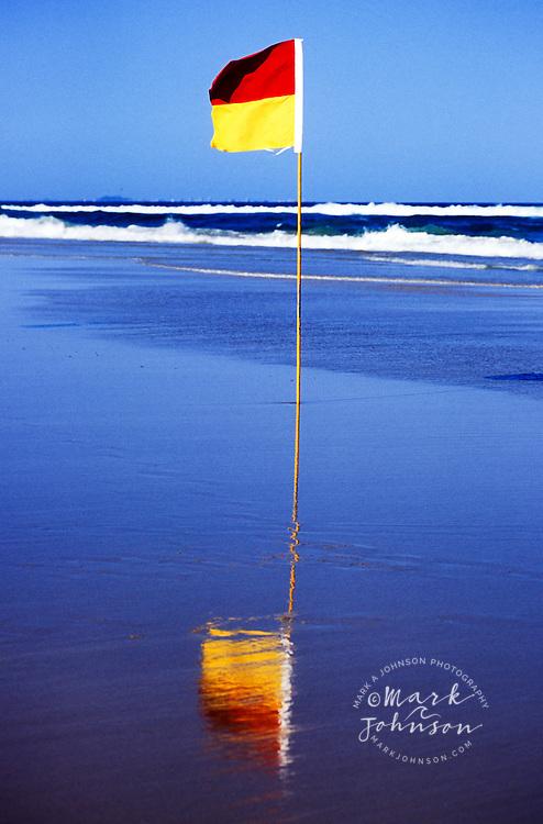 Lifesavers flag, Gold Coast, Queensland, Australia