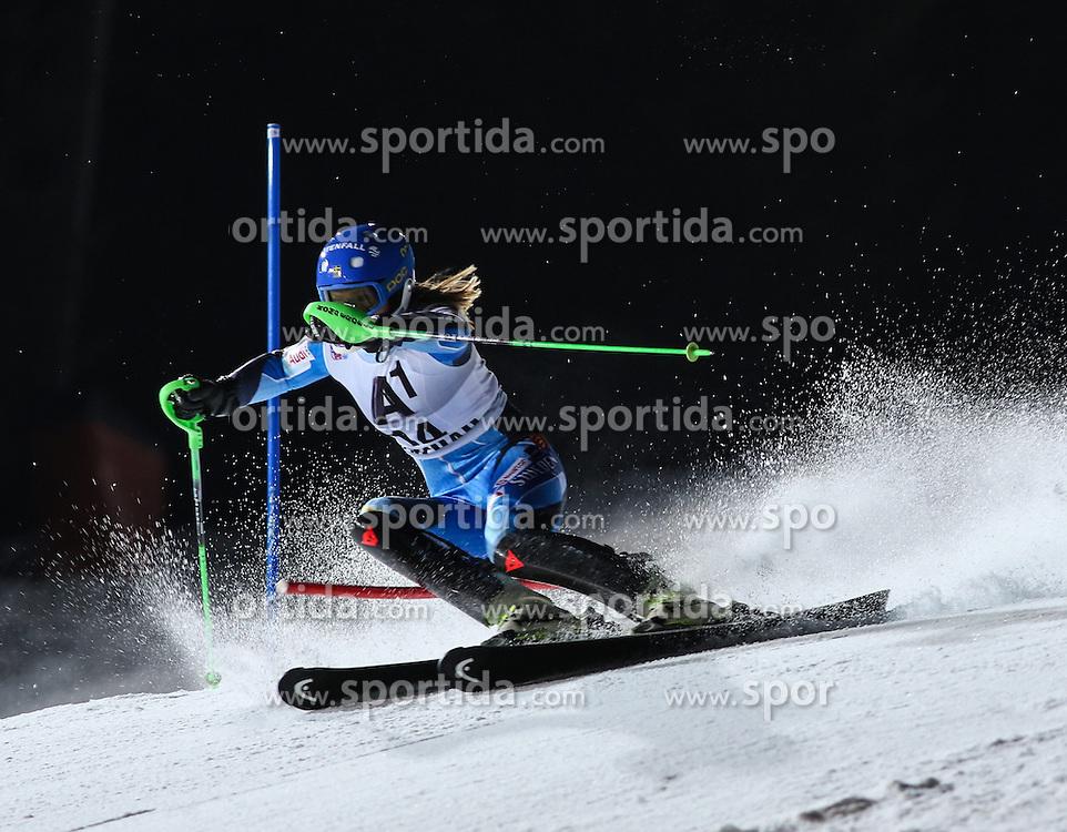 14.01.2014, Hermann Maier Weltcupstrecke, Flachau, AUT, FIS Ski Weltcup, Slalom, Damen, 1. Lauf, im Bild Anna Swenn-Larsson (SWE) // Anna Swenn-Larsson of Sweden in action during 1st run of the ladies Slalom of the FIS Ski Alpine World Cup at the Hermann Maier World Cup trackside, Austria on 2014/01/14. EXPA Pictures © 2014, PhotoCredit: EXPA/ Martin Huber