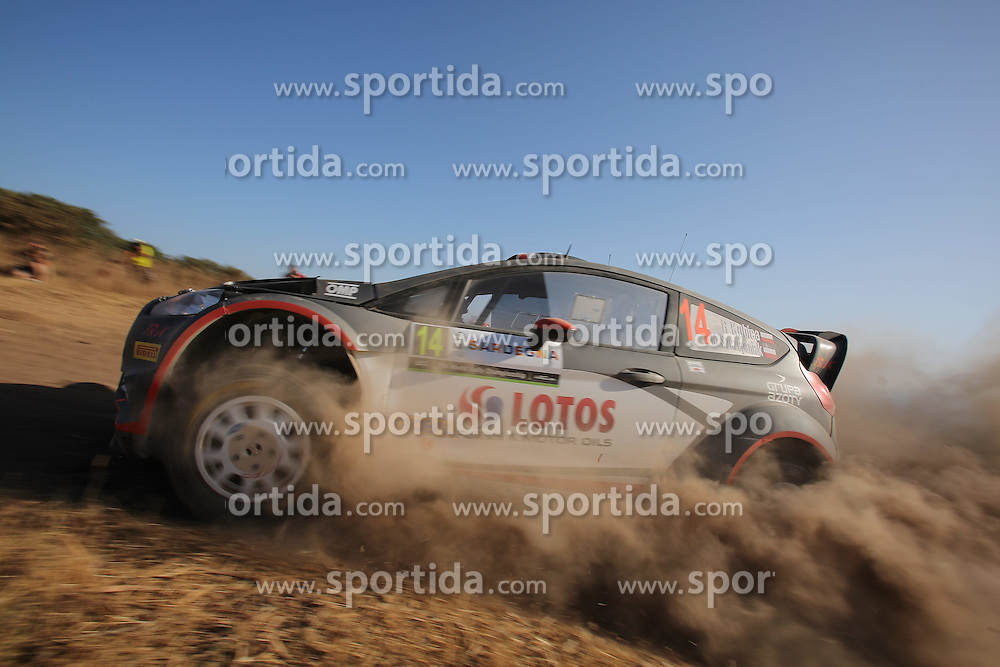 11.06.2015, Putifigari, Alghero, ITA, FIA, WRC, Rally Italia Sardegna 2015, im Bild Robert Kubica/Maciej Szczepaniak (RK M-Sport WRT/Fiesta RS WRC) // during the FIA WRC Rallye Italia Sardegna 2015 at Putifigari in Alghero, Italy on 2015/06/11. EXPA Pictures &copy; 2015, PhotoCredit: EXPA/ Eibner-Pressefoto/ Bermel<br /> <br /> *****ATTENTION - OUT of GER*****