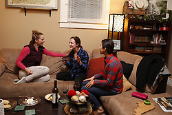 Danielle reveals baby to Sara and Mandy, Tuesday, Dec. 27, 2016 at House of Payne in Louisville.