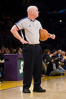 27 March 2007: NBA official Joe Crawford referees the game between the Memphis Grizzlies and the Los Angeles Lakers during the Grizzlies 88-86 victory over the Lakers at the STAPLES Center in Los Angeles, CA.