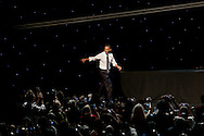 President Obama spoke at a campaign fundraiser held at the Nokia Theatre in Los Angeles.