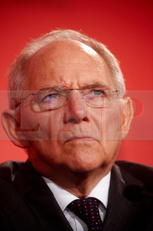 © Licensed to London News Pictures. 03/03/2016London UK. German Federal Minister of Finance, Wolfgang Schauble at The British Chamber of Commerce Annual Conference at The QE ll Conference Centre, Westminster.<br /> Photo credit : Simon Jacobs/LNP