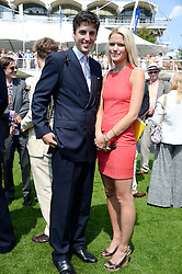 JAKE WARREN and ZOE STEWART at the 3rd day of the 2013 Glorious Goodwood racing festival - Ladies day at Goodwood Racecourse, West Sussex on 1st August 2013.