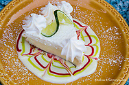A slice of delicious key lime pie at The Key Lime Bistro in Captiva Island, Florida, USA