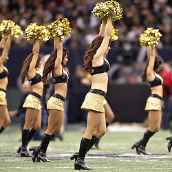 November 28, 2011; New Orleans, LA, USA; New Orleans Saints Saintsations perform prior to kickoff of a game against the New York Giants at the Mercedes-Benz Superdome. Mandatory Credit: Derick E. Hingle-US PRESSWIRE