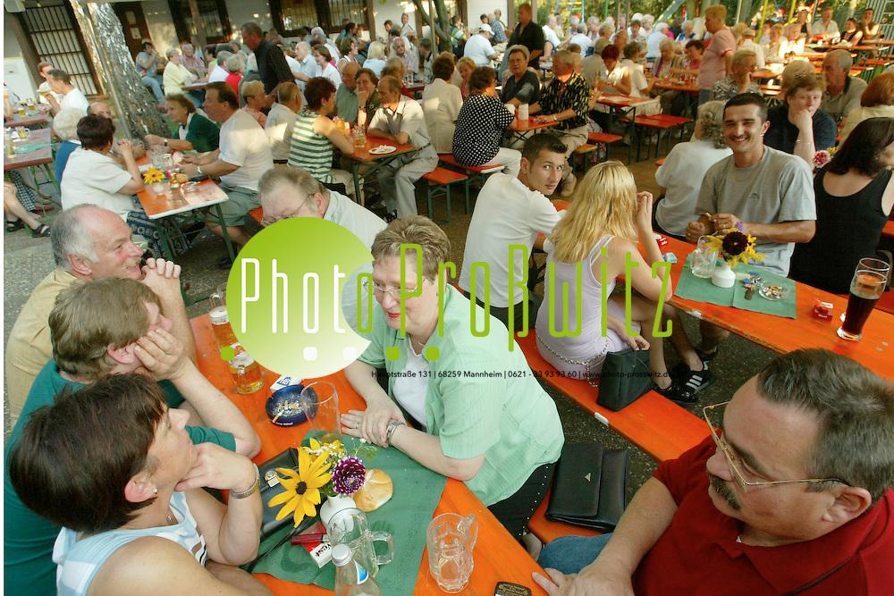 Mannheim. Kleing&auml;rtner Kirchwald. Fest<br /><br />Bild: Pro&szlig;witz