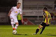 Crewe Alexandra midfielder Adam King on the ball during the Sky Bet League 1 match between Burton Albion and Crewe Alexandra at the Pirelli Stadium, Burton upon Trent, England on 20 October 2015. Photo by Aaron Lupton.