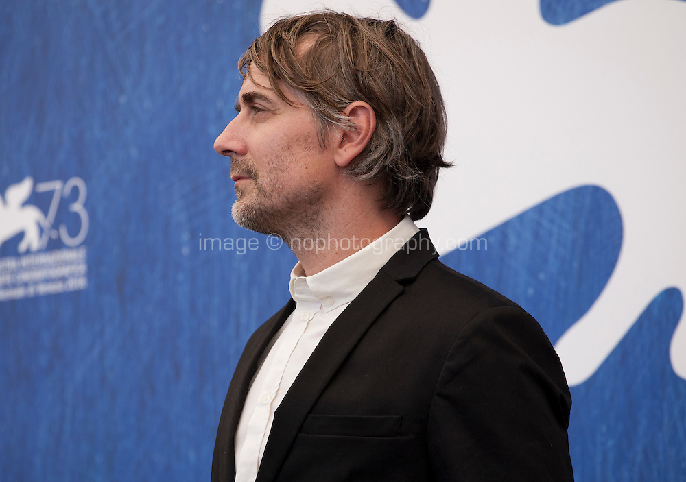 Jens Harzer at Les Beaux Jours d'Aranjuez (The Beautiful Days of Aranjuez) film photocall at the 73rd Venice Film Festival, Sala Grande on Thursday September 1st 2016, Venice Lido, Italy.