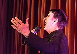 Old Town Hall, Stratford, London - 28 November 2015. Singers Marc Almond, Ronan Parke, Heather Peace and Asifa Lahore headline the Peter Tatchell Foundation's inaugural Equality Ball, a fundraiser for the foundation's LGBTI and human rights work, with guest of honour Sir Ian McKellen  joined by Michael Cashman. PICTURED:  Marc Almond performs for the crowd.  //// FOR LICENCING CONTACT: paul@pauldaveycreative.co.uk TEL:+44 (0) 7966 016 296 or +44 (0) 20 8969 6875. ©2015 Paul R Davey. All rights reserved.