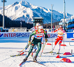 24.02.2019, Langlauf Arena, Seefeld, AUT, FIS Weltmeisterschaften Ski Nordisch, Seefeld 2019, Langlauf, Damen, Teambewerb, im Bild Victoria Carl (GER) // Victoria Carl of Germany during the ladie's cross country team competition of FIS Nordic Ski World Championships 2019 at the Langlauf Arena in Seefeld, Austria on 2019/02/24. EXPA Pictures © 2019, PhotoCredit: EXPA/ Stefan Adelsberger