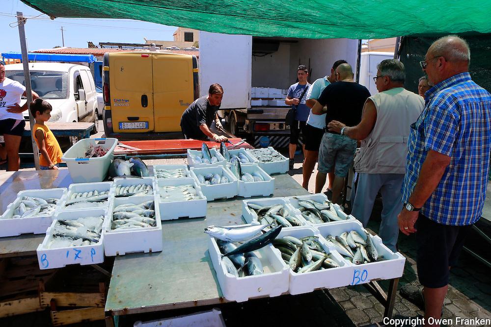 fish market, Portopalo, Sicily