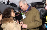 Bianca jagger and Jon Snow, , Anti War Rally, Hyde Park. 15 February 2003. © Copyright Photograph by Dafydd Jones 66 Stockwell Park Rd. London SW9 0DA Tel 020 7733 0108 www.dafjones.com