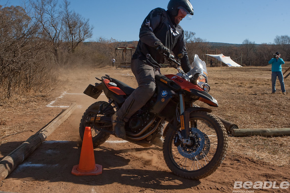 35 BMW motorcyle owners signed up as candidates for the South African selections for the World BMW GS Trophy to be held in South Africa, Swaziland and Mozambique from the 13th-18th November of this year. Participants had to display strong individual skills including navigation, technical motorcycle maintenance, fitness and riding skills. Team work played a key part in the selections too with the 34 men and one lady being challenged with mental and physical team challenges over the three days with temperatures ranging from -3 to 28 degrees. The SA selections were held at Konka in the North West Province from the 12th to the 15th of August 2010. The 3 member team selected to represent South Africa are  Roger Kane-Berman, Gerber Strydom and Warren Strong. Image by Greg Beadle