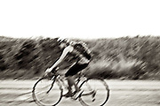 Erinn Deshinsky rides a bike through Camp Pendleton, Calif., on Aug 5, 2010.