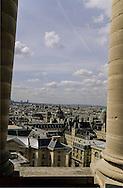 France. Paris. elevated view. La chapelle de l'universite de la Sorbonne et le quartier des grandes ecoles. vue du Pantheon, (ancienne abatiale Sainte Genevieve)