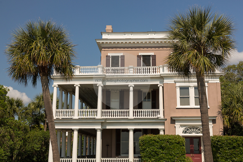 The antebellum home at 17 East Battery in historic Charleston, SC.